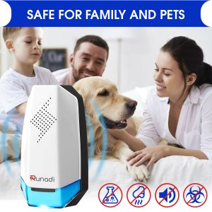 KEXMY Ultrasonic Pest Repeller – (Pack of 2) – Indoor Pest Control for Mosquitoes, Mice, Cockroaches, Spiders, and Rodents – Advanced Mice Repellent