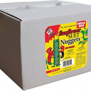Bird Products/Food CS01810 Sunflower Suet Nuggets Mega Box, 8 Pounds, None